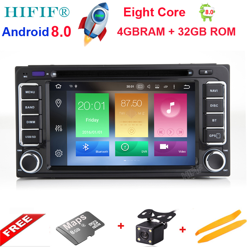 цена HIFIF Android 8.0 8 Core Car DVD Player for Toyota RAV4 Corolla EX Vios Vitz Hilux Terios Avanza Fortuner Prado with Radio GPS