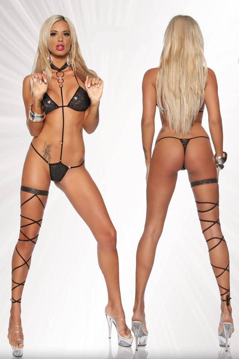Girl Wearing Bra Psp Wallpaper Sexy Lingerie Metallic Blingbling Bikini Top Thong W