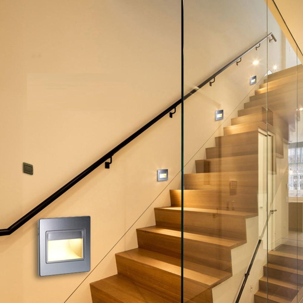 led step lights motion sensor stair light 15w nightlights light sensor embedded pir body application lamps staircase