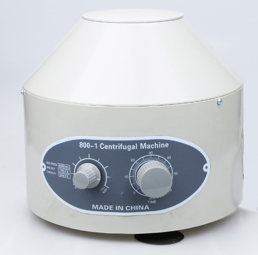 110V OR 220V EU/US PLUG 800-1 Electric Lab Centrifuge Laboratory Medical Practice Supplies 4000 rpm 20 ml x 6 1790 g цены