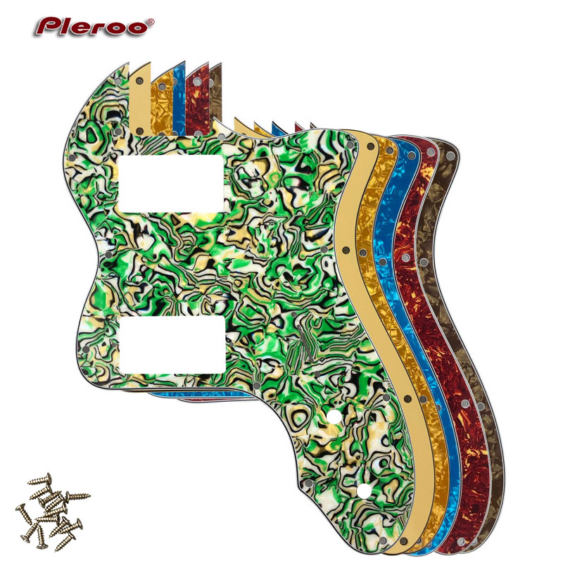 Pleroo Guitar Parts - For Classic Series '72 Telecaster Tele Thinline Guitar Pickguard Scratch Plate  With PAF Humbucker Pickups