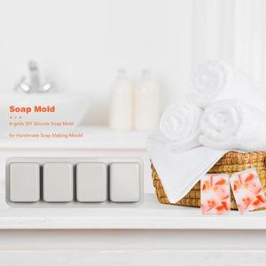 Image 3 - 4 רשתות רב פונקצית סיליקון סבון עובש DIY בעבודת יד מלאכת 3D מטבח ביצוע צורות אפיית סבון עובש עבור סבון ביצוע