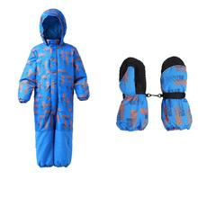 Moomin 2019 new fashion children winter overall waterproof winter jumpsuit outwear -20 degree snow overall boys blue mittens наушники детские foldable moomin blue
