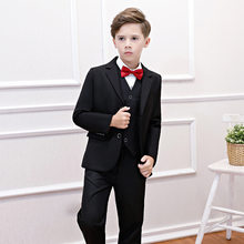 Formal de rayas niños traje chaqueta + camisa + Pantalones + chaleco escuela Formal Holiday Boutique traje 2019 ropa de niños RKS194022(China)