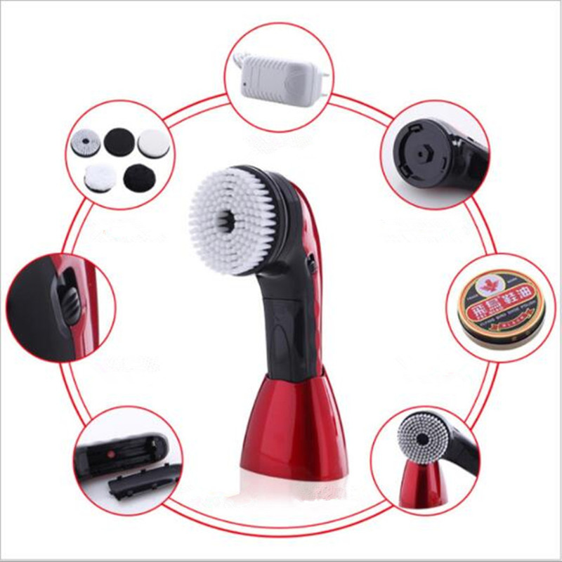 household electric mini shoes polisher hand-held portable Leather Polishing Equipment automatic clean machine bear 220 v hand held electric blender multifunctional household grinding meat mincing juicer machine