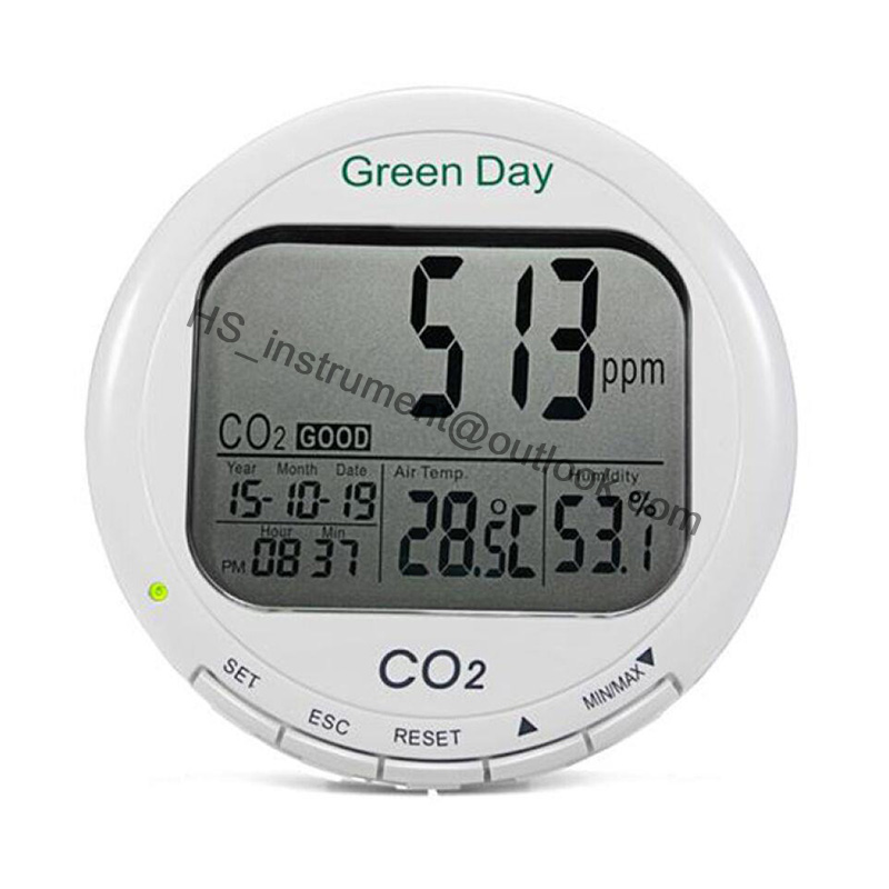 Air CO2 detector CO2 concentration temperature and humidity detector gas concentration tester CO2 monitor gas analyzer ORIGINAL digital indoor air quality carbon dioxide meter temperature rh humidity twa stel display 99 points made in taiwan co2 monitor