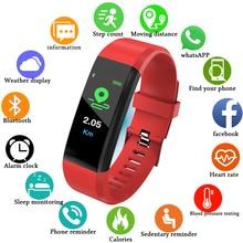 LIGE 2019 New Sport Smart Watch Women LED Color Screen Wristband  Fitness Tracker Pedometer Heart rate Bracelet Men