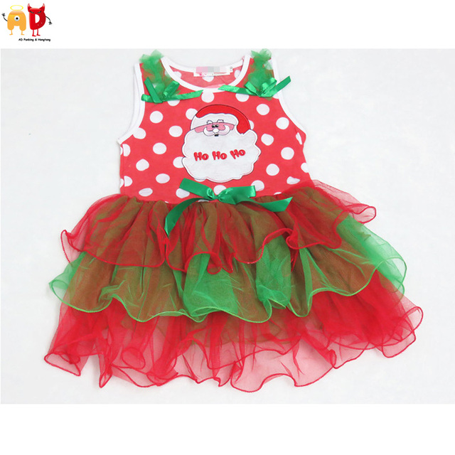190fd43ce85 AD Cute Girls Christmas Dresses Layered Kids Xmas Dress Kids Clothes  Children s Clothing