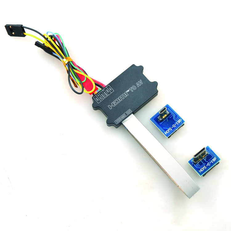 цена на Universal FPV HDMI to AV Converter with Mini HDMI & Micro HDMI Interface for GH3 5D NEX A7