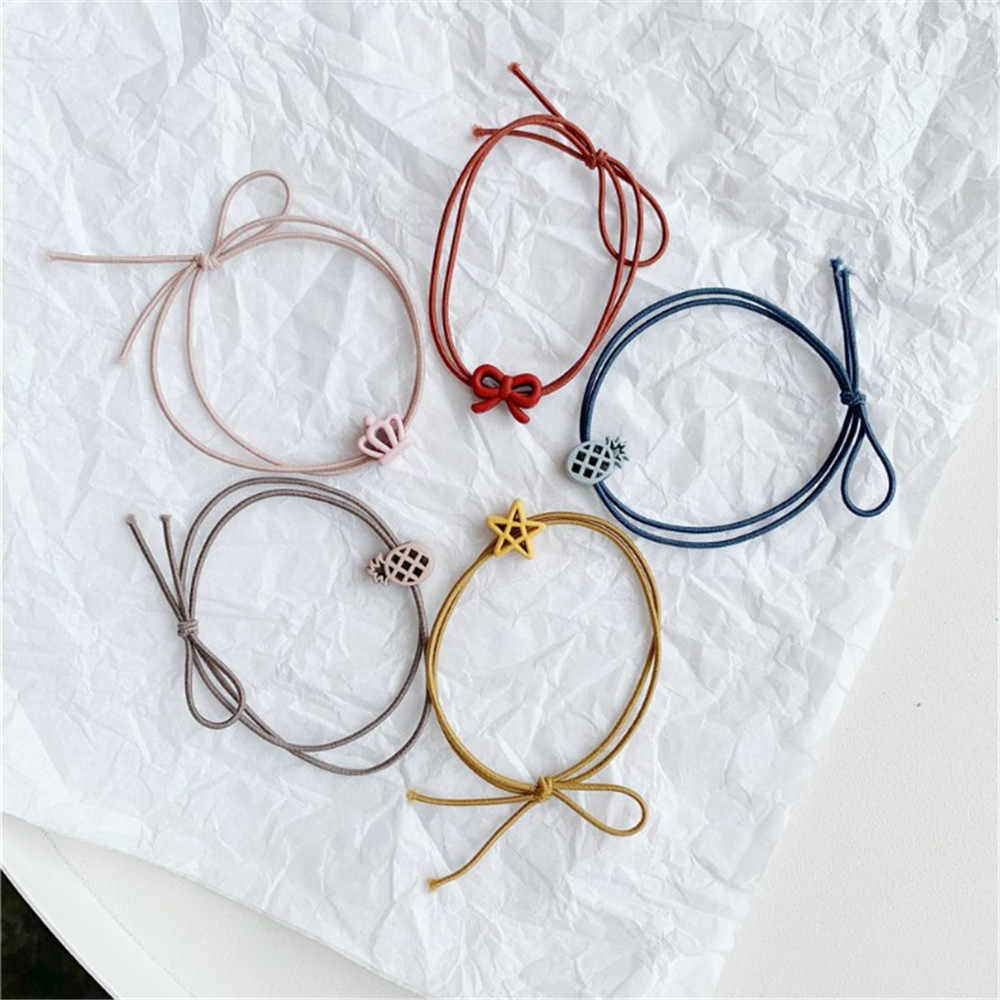 1PC Cartoon Scrub Star Geometric Headwear Baby Headdress Children Hair Ropes Girls Hair Accessories Kids Elastic Hair Bands