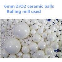 1kg Lot 6mm Ball ZrO2 Ceramic Balls Zirconia Balls Used For Planetary Mill Agitating Mill Roller