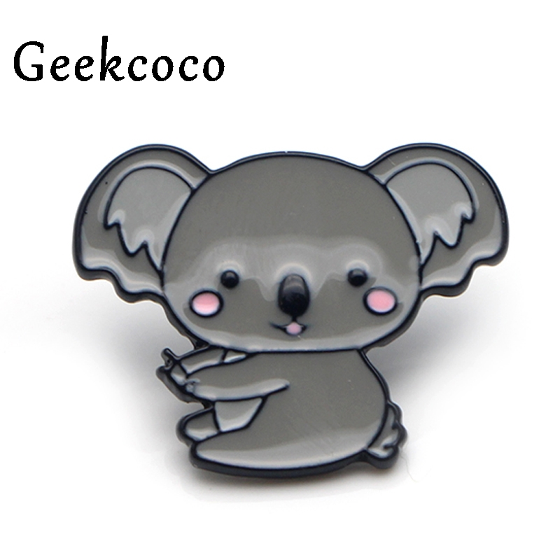 Koala animais broches orgulho liga de zinco esmalte pinos medalha insignia para camisa mochila roupas saco decoração unissex emblemas j0121