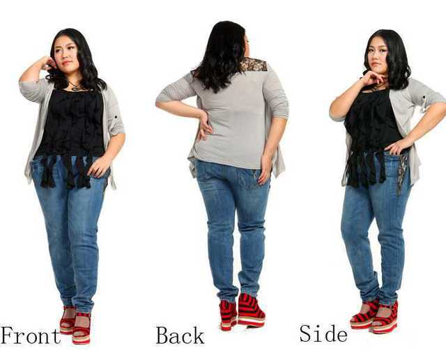 abec1d81850 Fashion plus size Women Stretch Jeans zipper lace pocket skinny demin  trousers slim fit pencil pants size 36-46 free shipping!