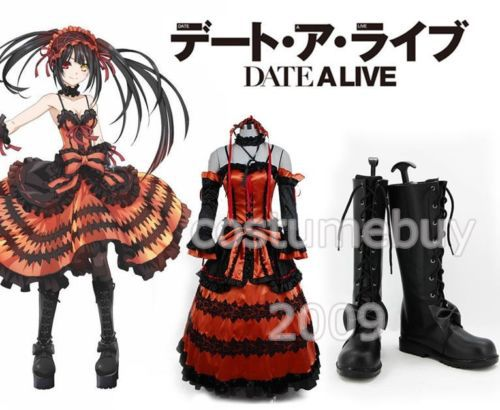 Anime DATE A LIVE Kurumi Tokisaki Astral Cosplay Costumes For Women Halloween Costume (shoes are not included)