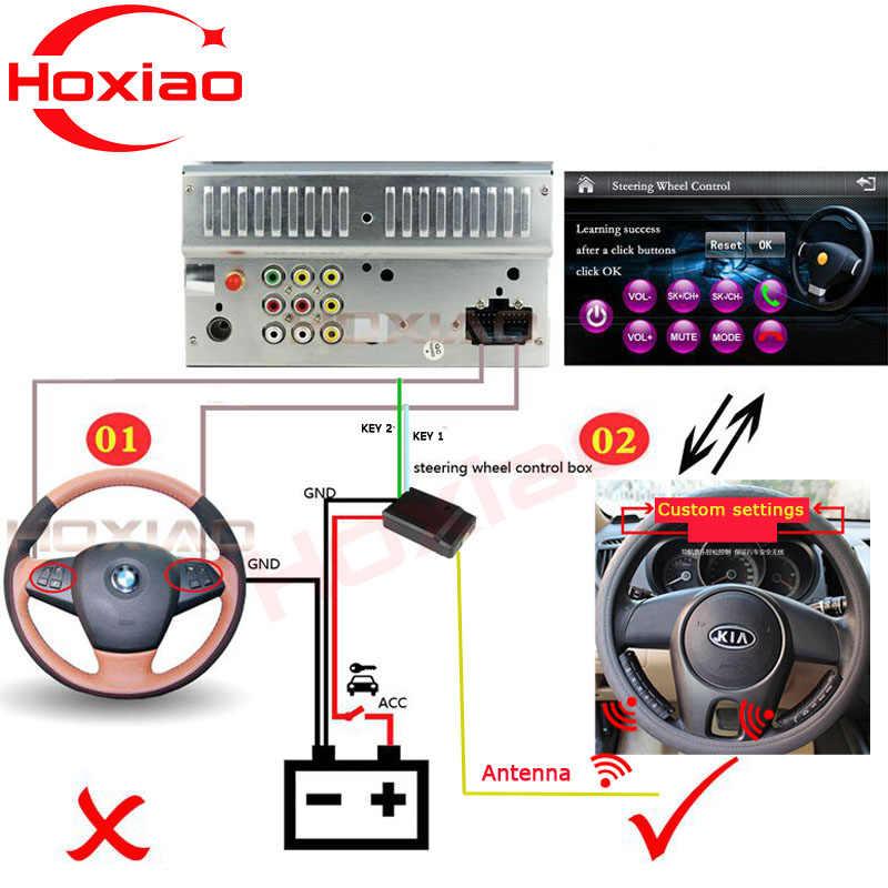 Control remoto de DVD de coche usado en el coche android/Windows Ce sistema reproductor volante botón de control remoto Universal control