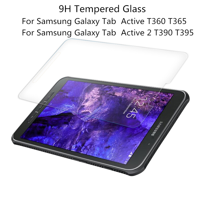 BINFUL 0.3mm 9H Tempered Glass Screen Protective For Samsung Galaxy Tab Active T360 T365 Active 2 T395 T390 Protector Film