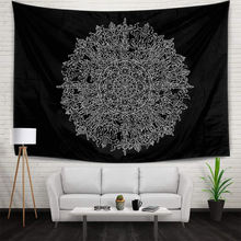 Tapestry Mandala Hippie Bohemian Tapestries Wall Hanging Flower Psychedelic Tapestry Living Room Decorative Banner 51″x59″