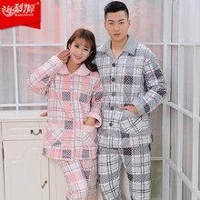 coral fleece sleepwear women's thickening female long-sleeve Pajama Sets