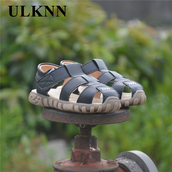 ULKNN Hot SALE Baby Sandals 2020 Summer  Sale Captain Soft Leather Boys Kids Fashion Beach Size21-30 Enfants White