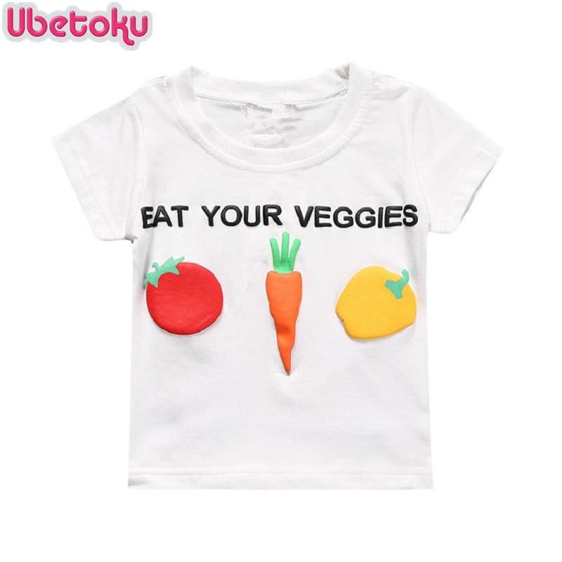 Ubetoku baby Radish print tees boy girls cotton tshirt kids comfortable short sleeve T-shirt children summer t-shirt