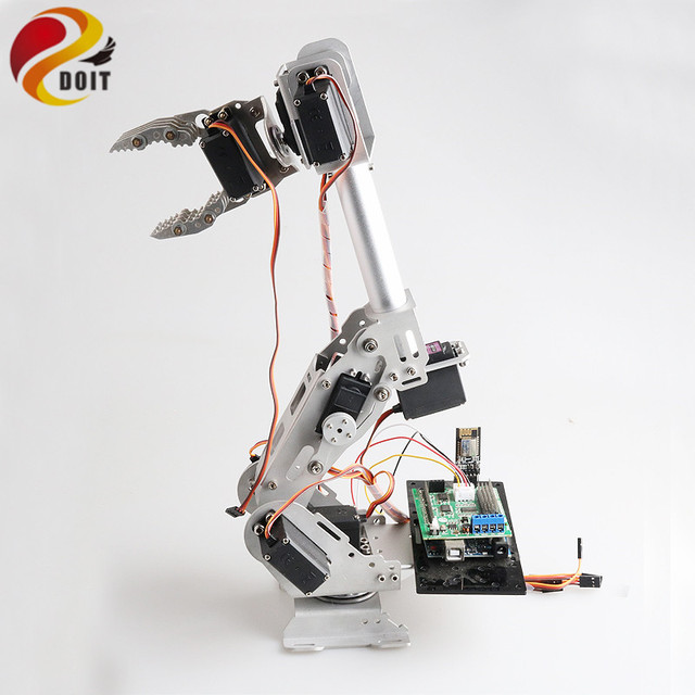 Wifi/Bluetooth/PS2 Control 8DOF Robotic Arm ABB Robotic Model Operating Arm with 360 Degree Rotating Base