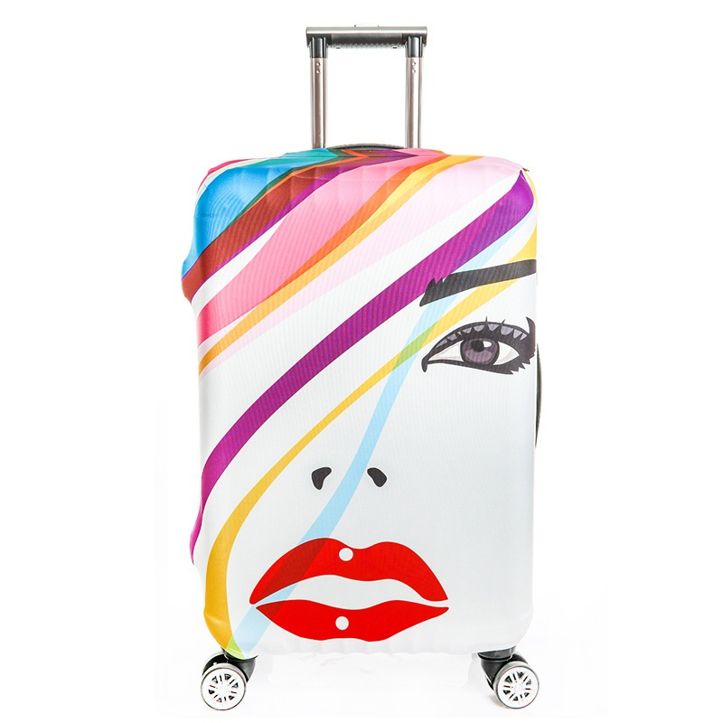 2018 Portable Printing Luggage Cover Protector Floral Trolley Suitcase Covers Elastic Polyester Travel Luggage Cover dustproof