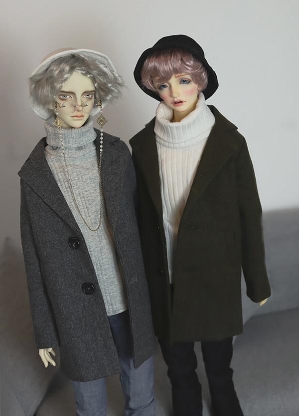 BJD doll coat thick classic wollen coat suitable for 1 4 1 3 BJD Uncle POPO68