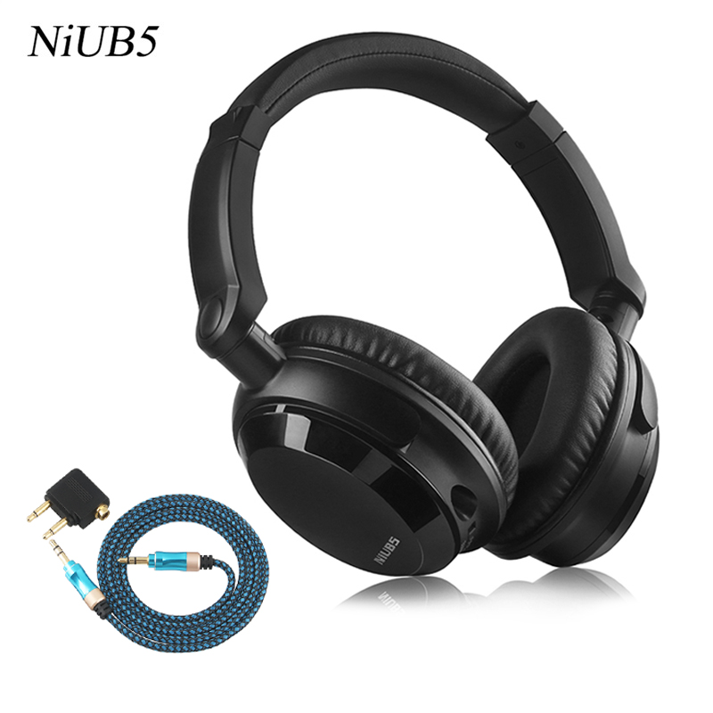2017 NiUB5 NX-07 Noise Cancelling Headphones Stereo Headset Deep bass Headphone with Microphone Active Noise Reduction Headphone niub5 active noise cancelling bluetooth headphones with wireless stereo headset deep bass headphones with microphone for phone