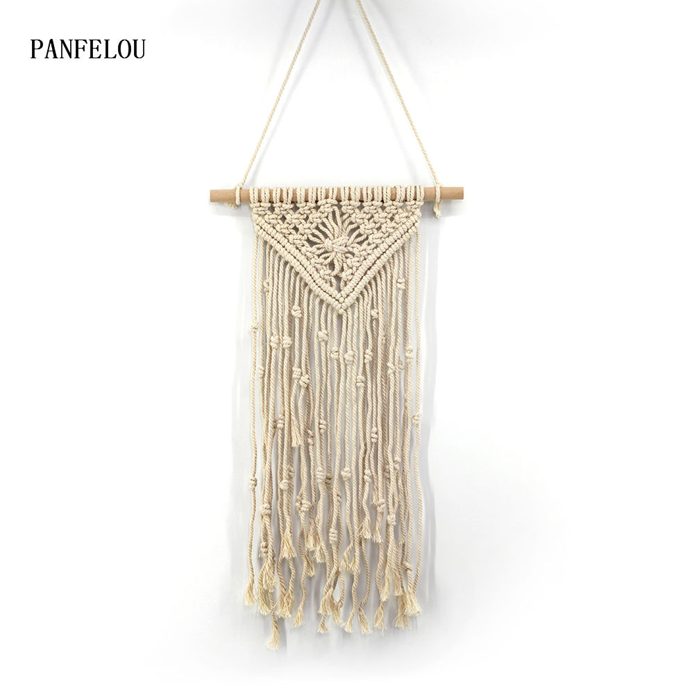 PANFELOU 95*35cm Nude tassel Tapestry Wall Hanging decoration Sandy Beach Throw Rug Blanket Camping Tent Bohemian Tapestry image