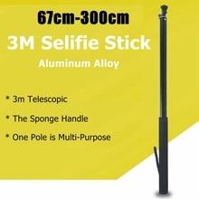 3m In Lega di Alluminio Bastone Selfie Pole Monopiede Per GoPro Hero 8 7 6 5 Max SJCAM DJI Action Insta360 UN R X Panoramica Accessori