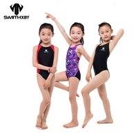 HXBY Kids Swimwear Girl Swimsuit Women 2017 One Piece Swimwear Professional Swimming Suits Bathing Suit Girls