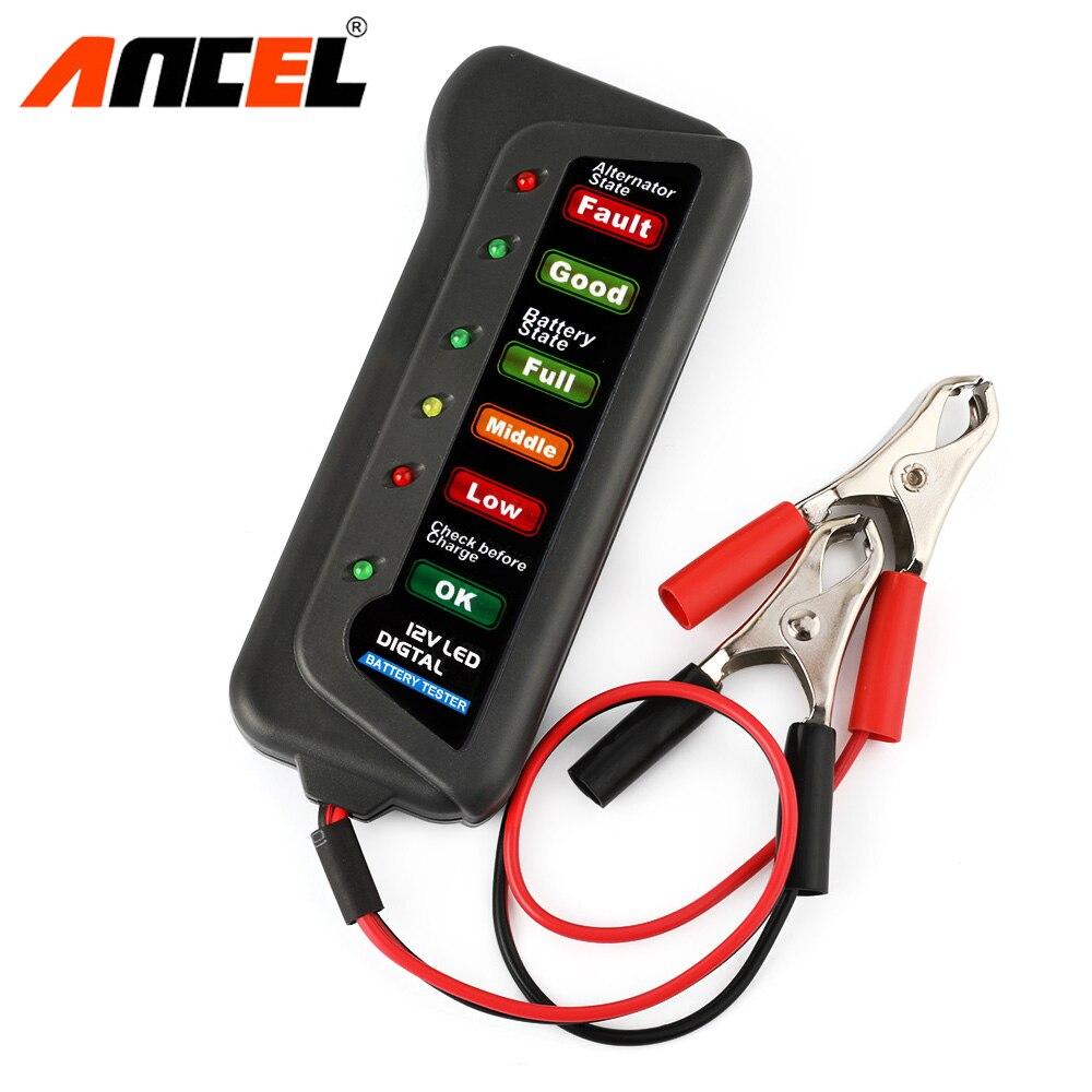 12 v Auto Car Digital Battery Tester Alternatore 6 HA CONDOTTO LA Luce per Le Auto Del Veicolo 12 v Batteria Auto-Tester strumento di diagnostica Ancel BST100