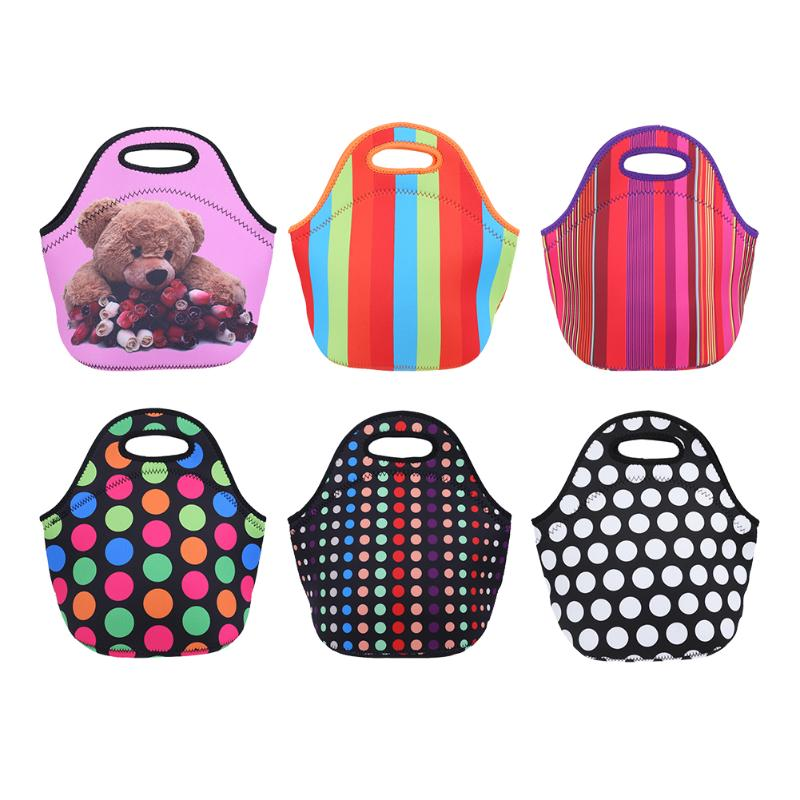 Lunch Bag Neoprene Portable Lunch Tote Bag Insulated Waterproof Lunch Box Thermal Insulated Lunch Tote Bag For Women Kids