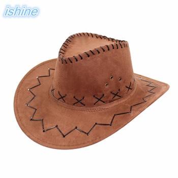 2018 nueva llegada sombrero de vaquero occidental Kid Niños Niñas fiesta  Panamá Jazz sombrero cowgirl Cowboy Hat para vacaciones pesca ae69ed089d1
