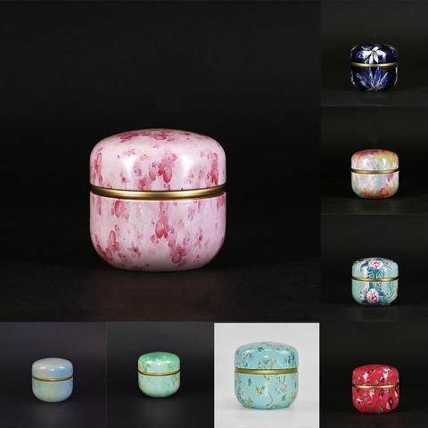 Powder Tea Jar Cans With Lid Storage Boxes Coffee Mini Multifunction Chinese Style Round Metal Lahore