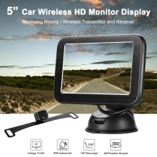 Rear View Mirror 5inch Wireless TFT LCD Rearview Monitor With Reversing Camera Car Rear View System Kit Car Mirror Auto liislee for seat ibiza st 6j 2009 2017 3 in1 special rear view wifi camera wireless receiver mirror monitor diy parking system