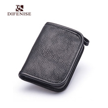 Difenise New arrival High quality Vegetable Tanned leather wallets men and Women fashion designer purses retail and wholesale