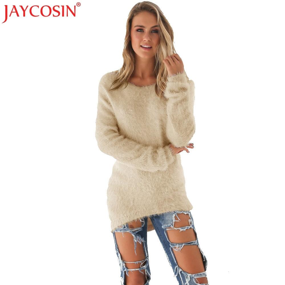JAYCOSIN 2017 Hot Fashion Sweater Dress Women Winter Long Sleeve Ladies Jumper Pullover Mini Sweaters Dresses Nev6 Free Shiping