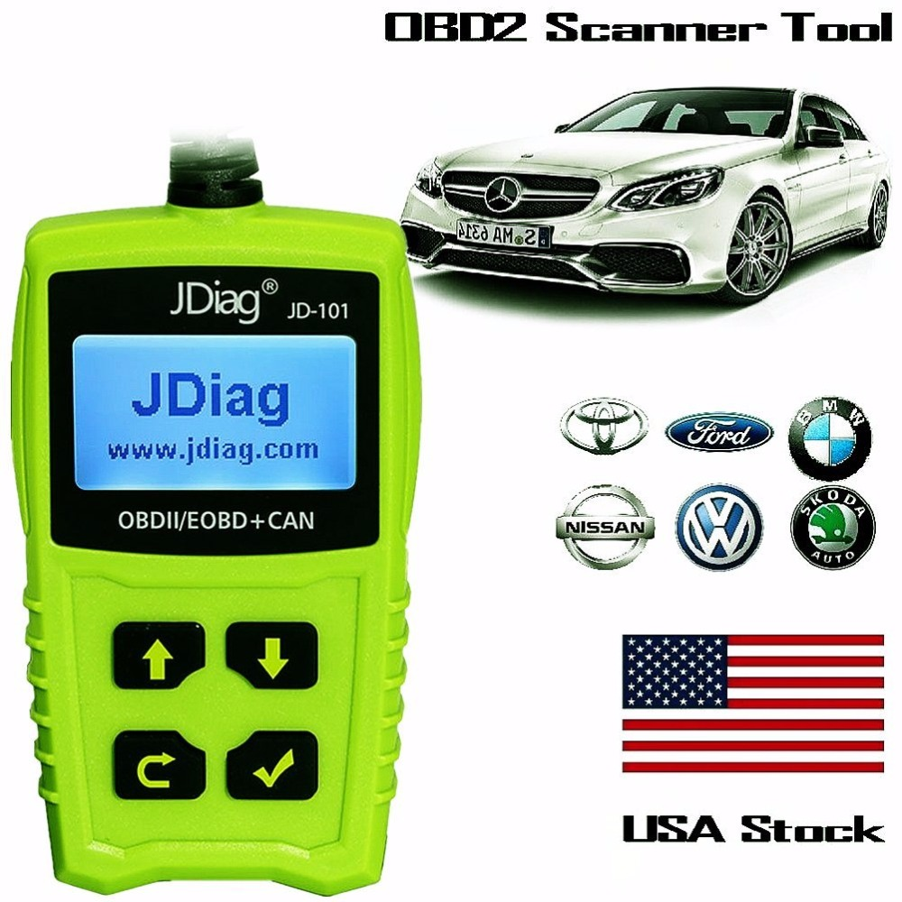 Super Code Readers Jdiag Jd101 Auto Scanner Tool Check Engine Mercedes Benz Light Obd2 Special Function With Battery Test In Scan Tools From