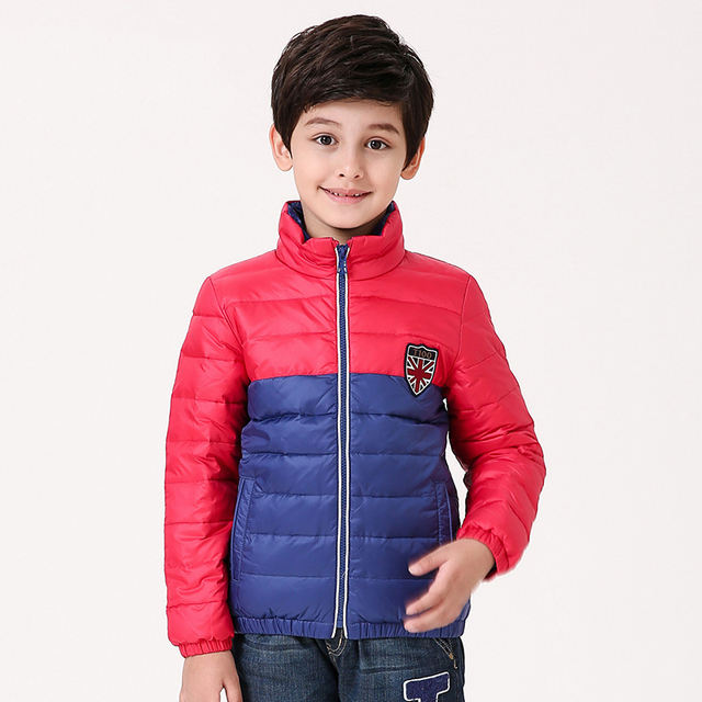 33e58b6b0350 T100 Winter Children Clothing White Duck Down Warm Boy Jackets Kids ...