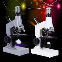 1200X body double lamp microscope student children biological microscope and mirror lighting science education toys