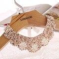 Envío gratis 70 cm nueva moda popular collar falso gargantilla collar perlas lentejuelas mujeres collar llamativo