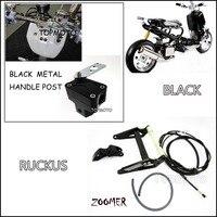 ZOOMER RUCKUS FI NPS50-Siyah Motor Çerçeve siyah kolu sonrası metal motosiklet pazarı Ile Uzatın Uzatma Kiti