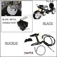 ZOOMER RUCKUS FI NPS50 Black Engine Frame Extend Extension Kit With Black Handle Post Metal Motorcycle
