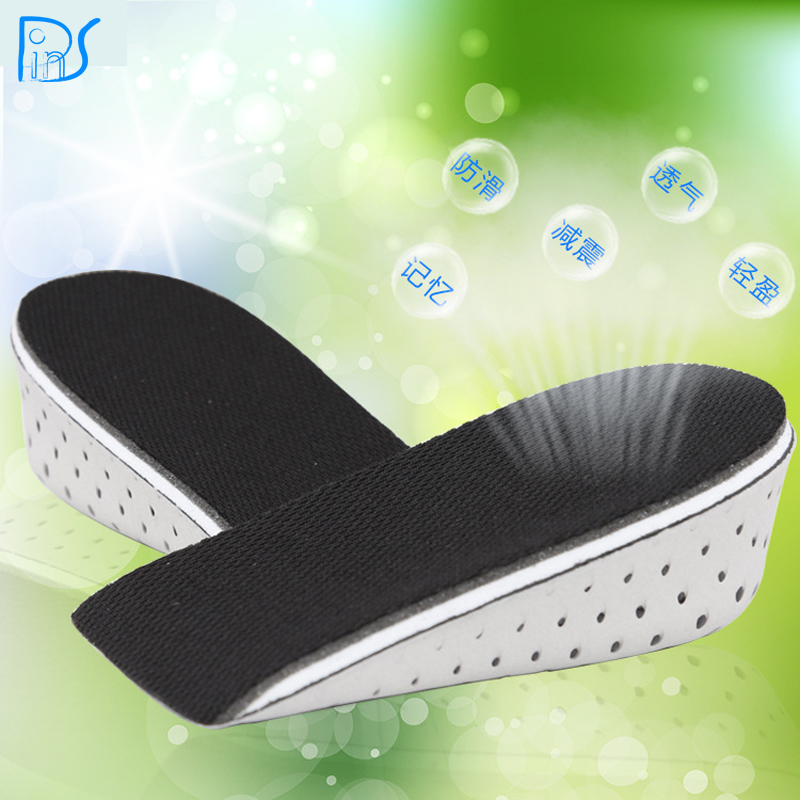 New Arrival Men Women Unisex Memory Foam Increase Height High Half Insoles Shoe Inserts Cushion Pads Wholesale