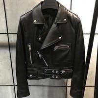100% Real Sheepskin Coat Female Natural Leather Jacket for Women Short Slim Outerwear Genuine Lambskin Leather Jacket Women
