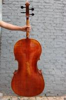 4 4 Cello Spruce Wood Flame Maple Master Level Powerful Sound Cello Bag Bow 392