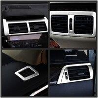 Voor Toyota Camry 2015 6 stks/set Matte Chrome Auto-interieur Airconditioning AC Vents Cover Sierlijst Decoratie Auto-onderdelen