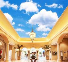 3dวอลล์เปเปอร์ท้องฟ้าสีฟ้าและเมฆเพดานห้องนั่งเล่นตกแต่งบ้านไม่ทอวอลล์เปเปอร์วอลล์เปเปอร์ฉากหลัง Mural