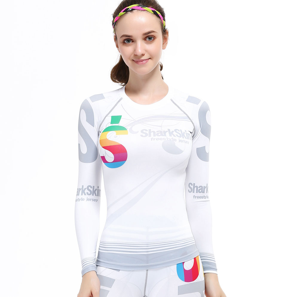 Shirt design china - Women S Compression Tights Workout T Shirt Fitness Dance Pilates Tops Long Sleeve Base Layer Body Temperament
